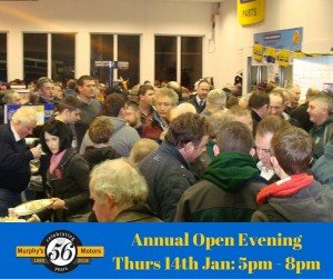 Annual Open Evening Thurs 14th Jan- 5pm - 8pm