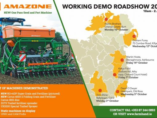 Working Demo Road Show with the New One Pass Seed Fert Machine