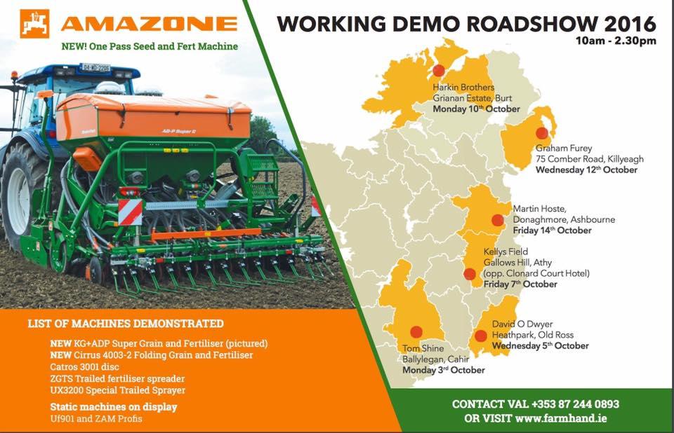 Amazone Working Demo Road SHow.