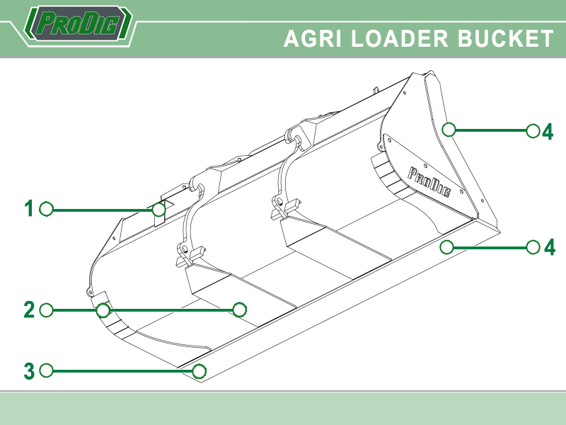 Prodig Agri Loader Shovel Loader Features