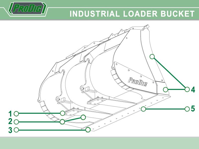 Prodig Industrial Loader Shovel Bucket
