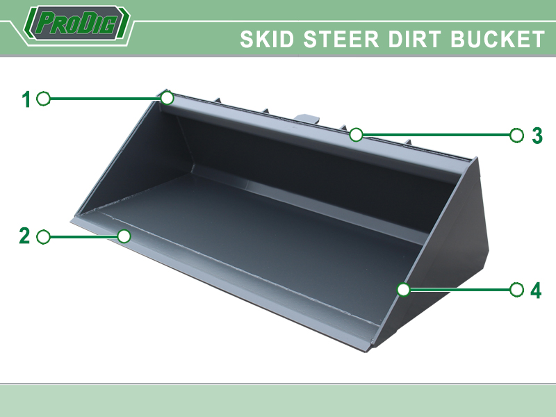 Prodig Skid Steer Dirt Bucket