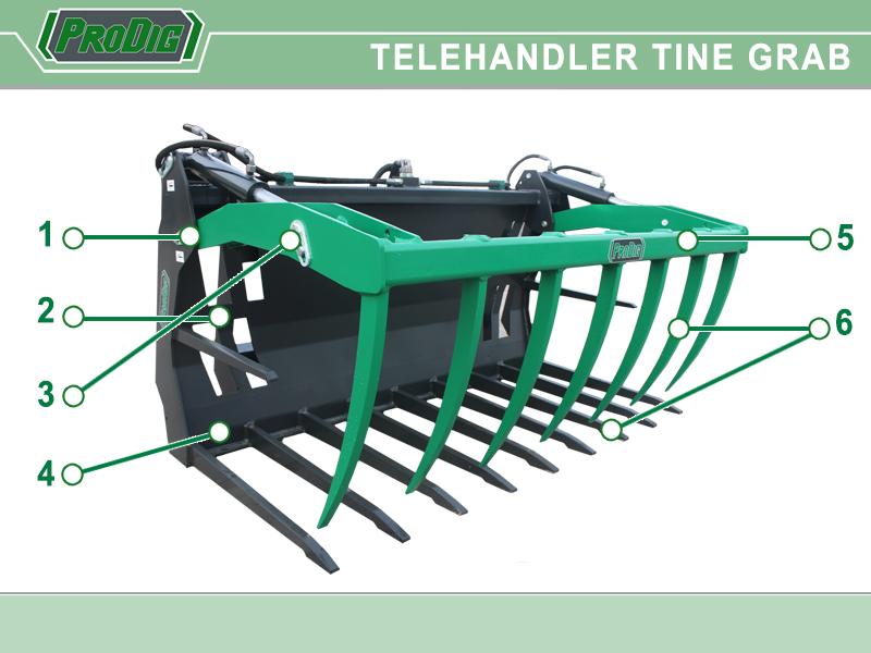 Prodig Telehandler Tine Grab