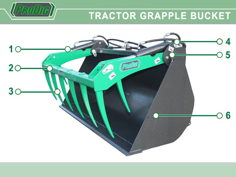 Prodig Tractor Grapple Bucket