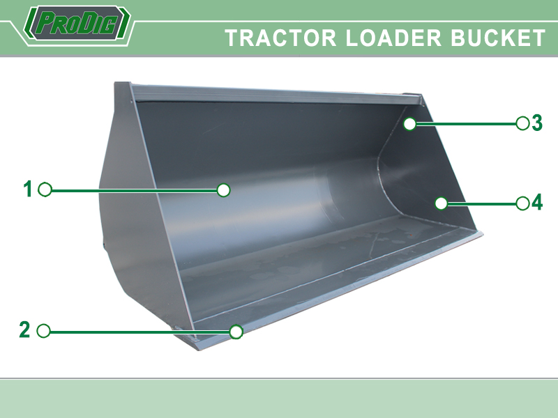 Tractor Loader Bucket Features