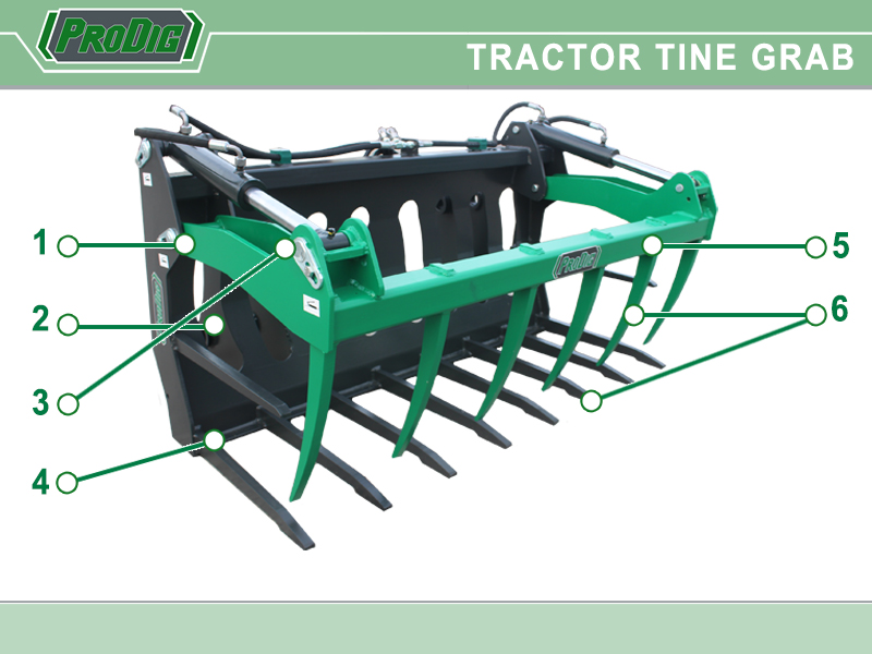 Prodig Grab Tractor Tine Grab