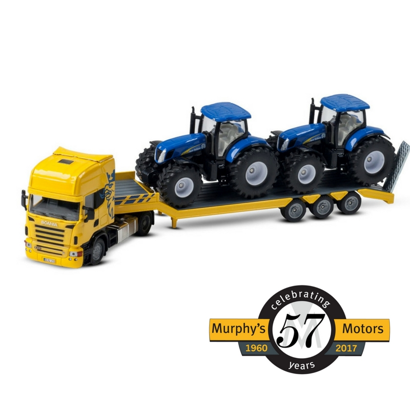 ... Truck With 2 New Holland Tractors, ...